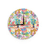 "Agnes Schugardt ""Fruit of the Earth"" Multicolor Nature Wall Clock - KESS InHouse"