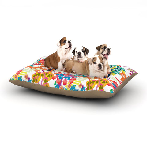 "Agnes Schugardt ""Fruit of the Earth"" Multicolor Nature Dog Bed - KESS InHouse  - 1"