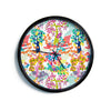 "Agnes Schugardt ""Fruit of the Earth"" Multicolor Nature Modern Wall Clock"