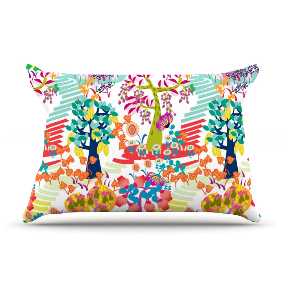 "Agnes Schugardt ""Fruit of the Earth"" Multicolor Nature Pillow Sham - KESS InHouse  - 1"