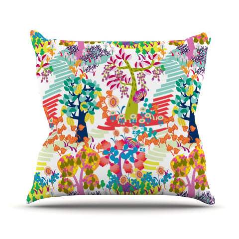"Agnes Schugardt ""Fruit of the Earth"" Multicolor Nature Outdoor Throw Pillow - KESS InHouse  - 1"