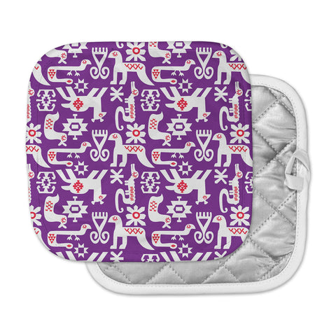 "Agnes Schugardt ""The Tribe"" Purple Tribe Pot Holder"
