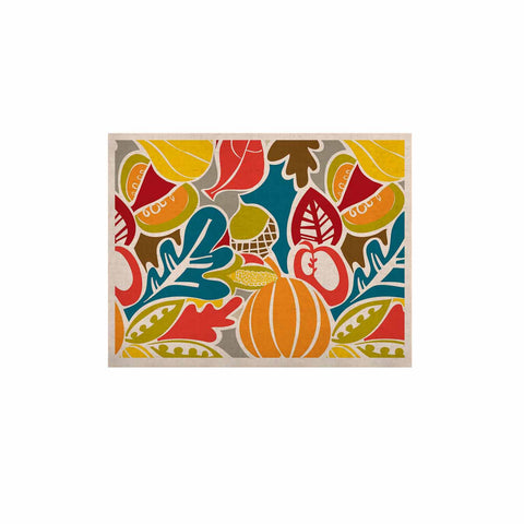 "Agnes Schugardt ""Fall Harvest"" Multicolor Food KESS Naturals Canvas (Frame not Included) - KESS InHouse  - 1"