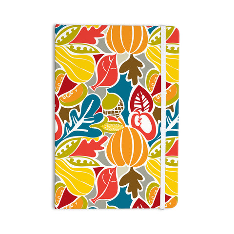 "Agnes Schugardt ""Fall Harvest"" Multicolor Food Everything Notebook - KESS InHouse  - 1"