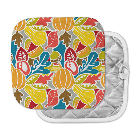 "Agnes Schugardt ""Fall Harvest"" Multicolor Food Pot Holder"