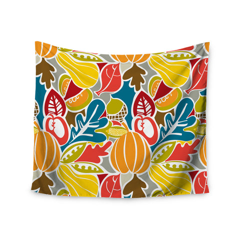 "Agnes Schugardt ""Fall Harvest"" Multicolor Food Wall Tapestry - KESS InHouse"
