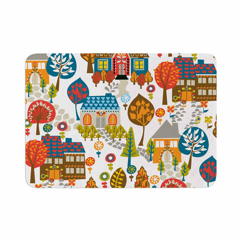 "Agnes Schugardt ""In The Village"" Vintage Multicolor Memory Foam Bath Mat - KESS InHouse"
