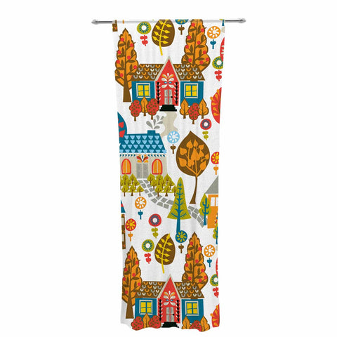 "Agnes Schugardt ""In The Village"" Vintage Multicolor Decorative Sheer Curtain - KESS InHouse  - 1"