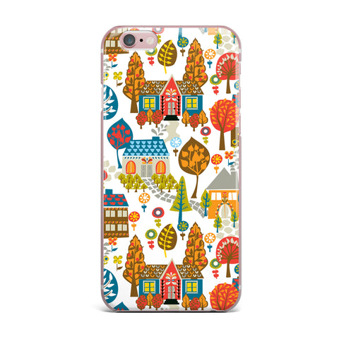"Agnes Schugardt ""In The Village"" Vintage Multicolor iPhone Case - KESS InHouse"