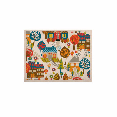 "Agnes Schugardt ""In The Village"" Vintage Multicolor KESS Naturals Canvas (Frame not Included) - KESS InHouse  - 1"