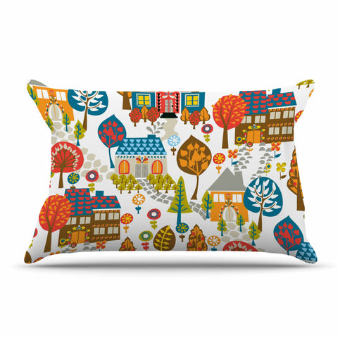 "Agnes Schugardt ""In The Village"" Vintage Multicolor Pillow Sham - KESS InHouse  - 1"