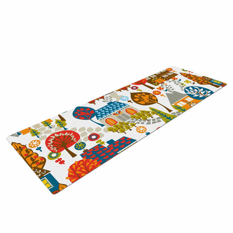 "Agnes Schugardt ""In The Village"" Vintage Multicolor Yoga Mat - KESS InHouse  - 1"