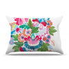 "Agnes Schugardt ""Bouquet"" Green Red Illustration Pillow Sham"