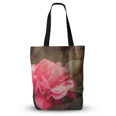 "Angie Turner ""Camelia"" Pink Flower Everything Tote Bag - Outlet Item"