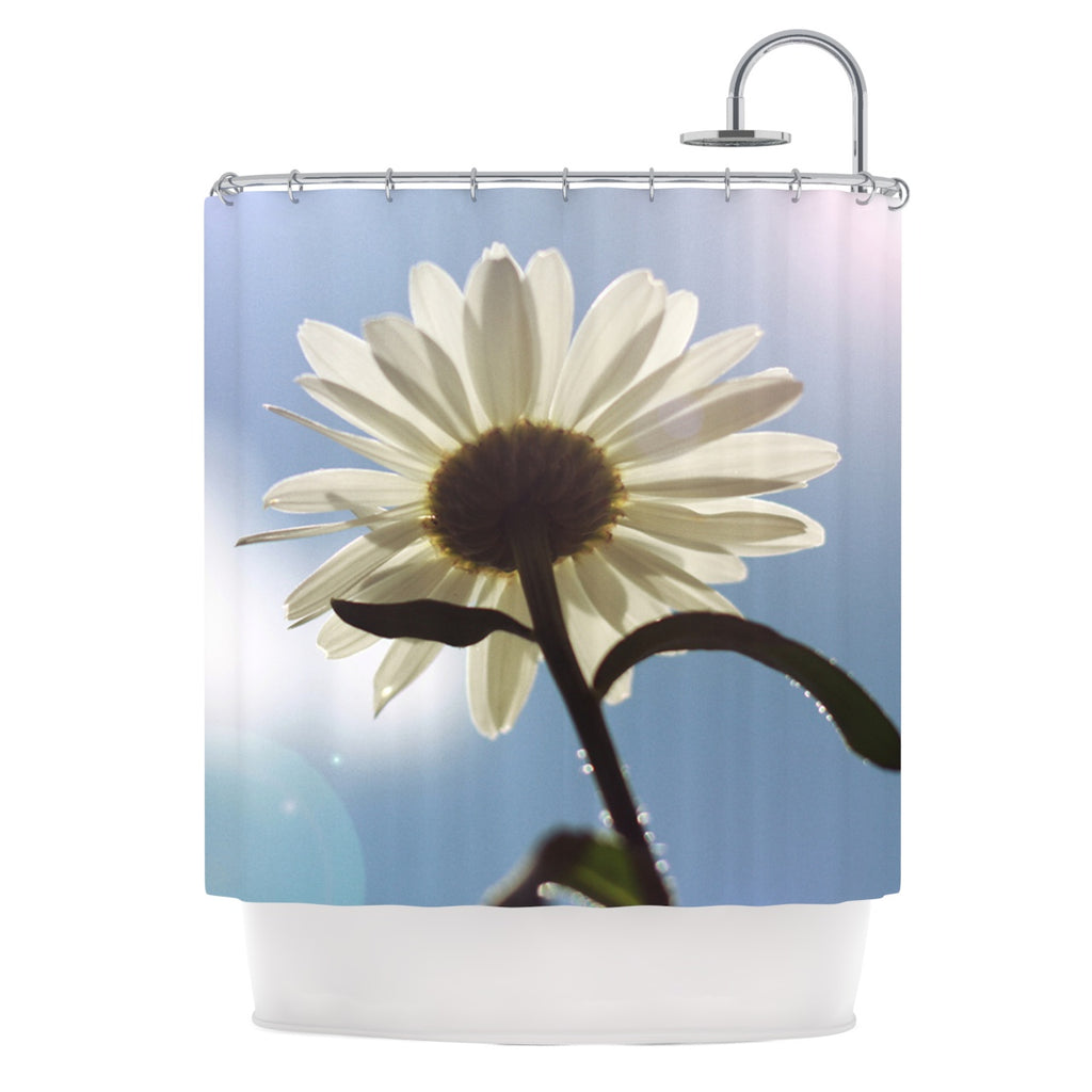 "Angie Turner ""Daisy Bottom"" Sky Flower Shower Curtain - Outlet Item"