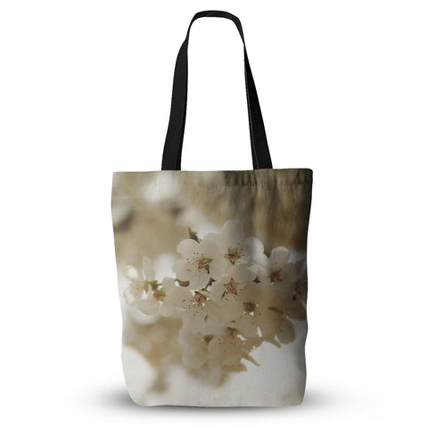 "Angie Turner ""Flowering Pear"" White Petals Everything Tote Bag - KESS InHouse  - 1"
