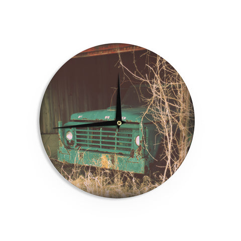 "Angie Turner ""Ford"" Teal Car Wall Clock - Outlet Item"