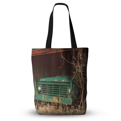 "Angie Turner ""Ford"" Teal Car Everything Tote Bag - Outlet Item"