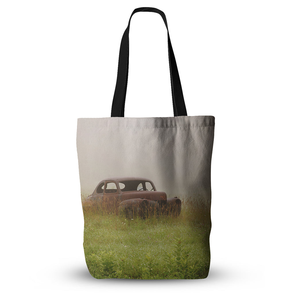 "Angie Turner ""Forgotten Car"" Grass Everything Tote Bag - KESS InHouse  - 1"