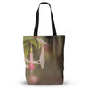 "Angie Turner ""Fuchsia"" Pink Flower Everything Tote Bag - Outlet Item"
