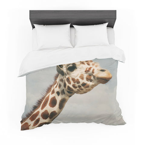 "Angie Turner ""Giraffe"" Animal Featherweight Duvet Cover - Outlet Item"