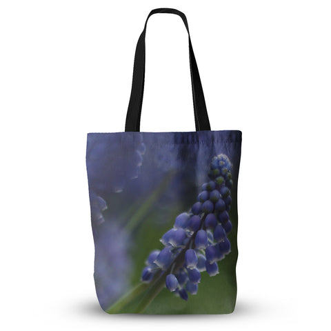 "Angie Turner ""Grape Hyacinth"" Green Purple Everything Tote Bag - Outlet Item"