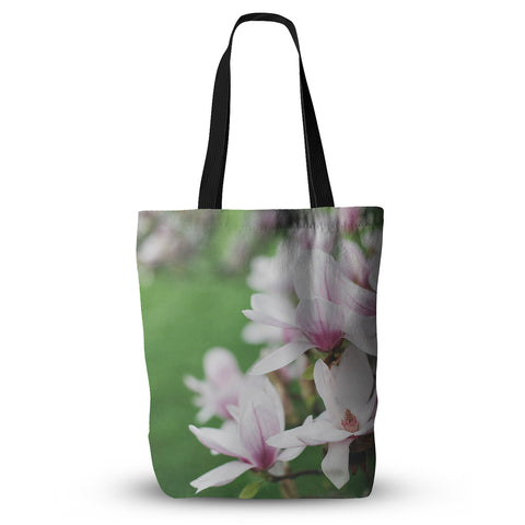 "Angie Turner ""Magnolias"" Pink Green Everything Tote Bag - Outlet Item"