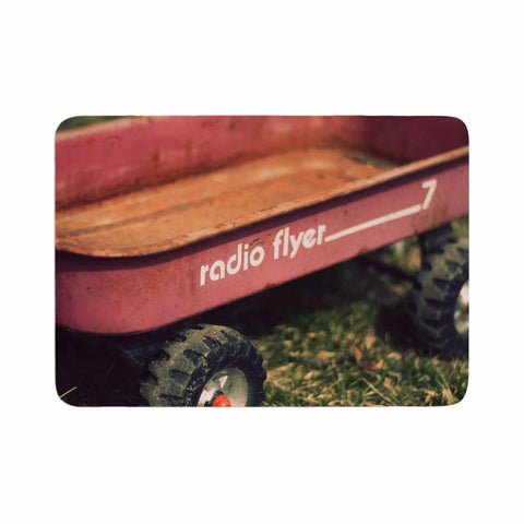 "Angie Turner ""Radio Flyer"" Red White Memory Foam Bath Mat - Outlet Item"