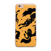 "Anya Volk ""Dancing Wolves"" Orange Abstract iPhone Case - KESS InHouse"