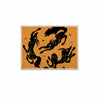 "Anya Volk ""Dancing Wolves"" Orange Abstract KESS Naturals Canvas (Frame not Included) - KESS InHouse  - 1"