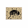 "Anya Volk ""Wolf"" Beige Illustration KESS Naturals Canvas (Frame not Included) - KESS InHouse  - 1"