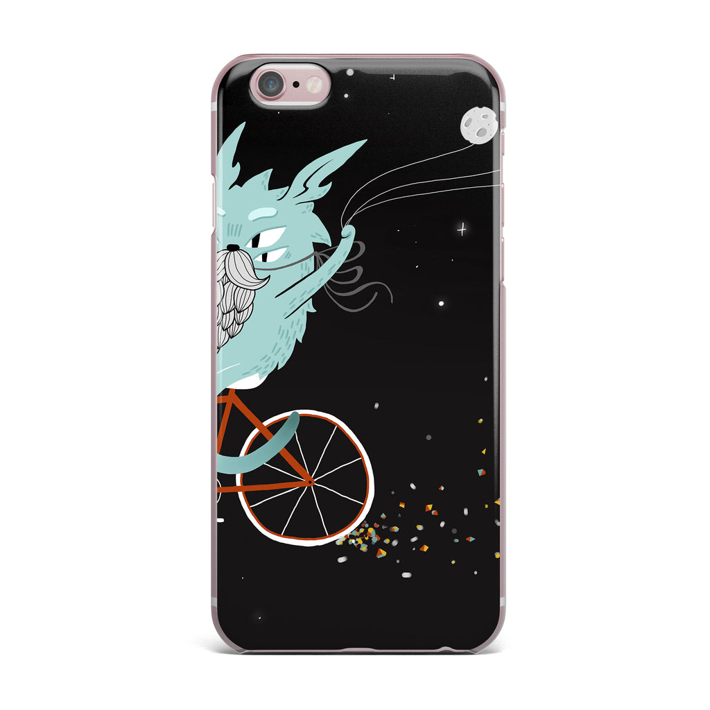 "Anya Volk ""Bunny In Space"" Red Fantasy iPhone Case - KESS InHouse"
