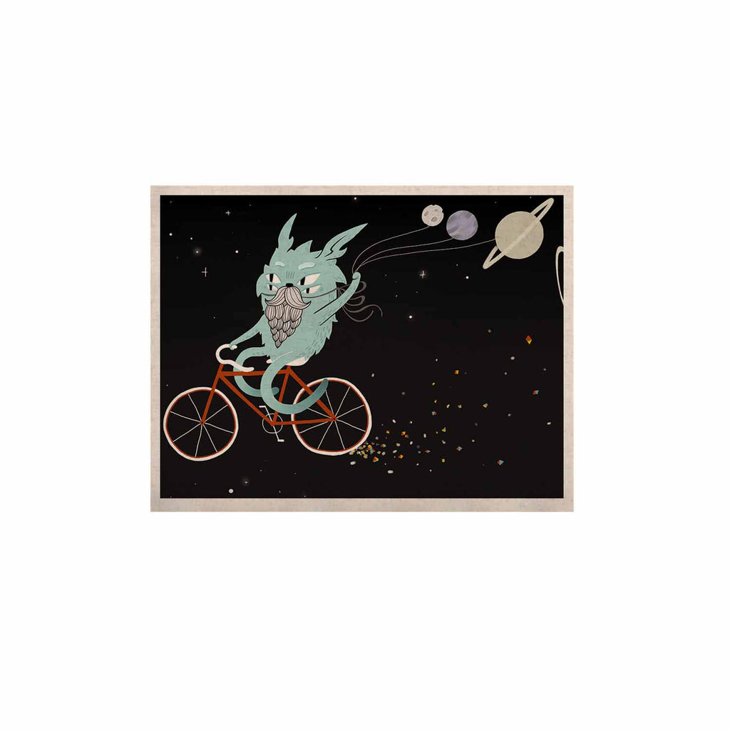 "Anya Volk ""Bunny In Space"" Red Fantasy KESS Naturals Canvas (Frame not Included) - KESS InHouse  - 1"