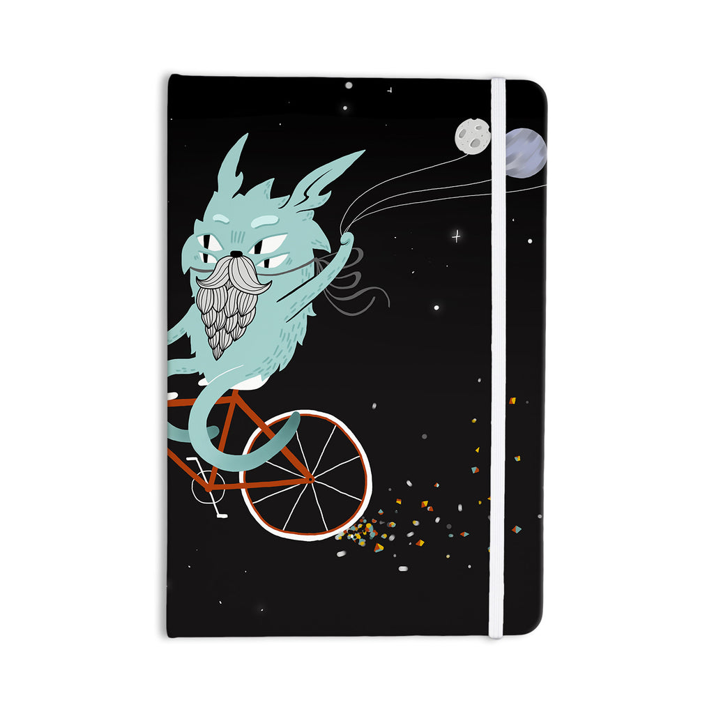 "Anya Volk ""Bunny In Space"" Red Fantasy Everything Notebook - KESS InHouse  - 1"