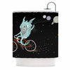 "Anya Volk ""Bunny In Space"" Red Fantasy Shower Curtain - KESS InHouse"
