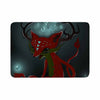 "Anya Volk ""Magic Fox"" Teal Fantasy Memory Foam Bath Mat - KESS InHouse"