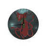 "Anya Volk ""Magic Fox"" Teal Fantasy Wall Clock - KESS InHouse"