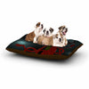 "Anya Volk ""Magic Fox"" Teal Fantasy Dog Bed - KESS InHouse  - 1"