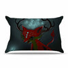 "Anya Volk ""Magic Fox"" Teal Fantasy Pillow Sham - KESS InHouse  - 1"