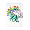 "Anya Volk ""Gummy Unicorn"" Teal Pink Everything Notebook - KESS InHouse  - 1"