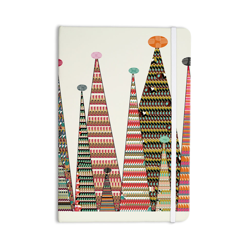 "Bri Buckley ""Feather Peaks"" Rainbow Triangles Everything Notebook - KESS InHouse  - 1"