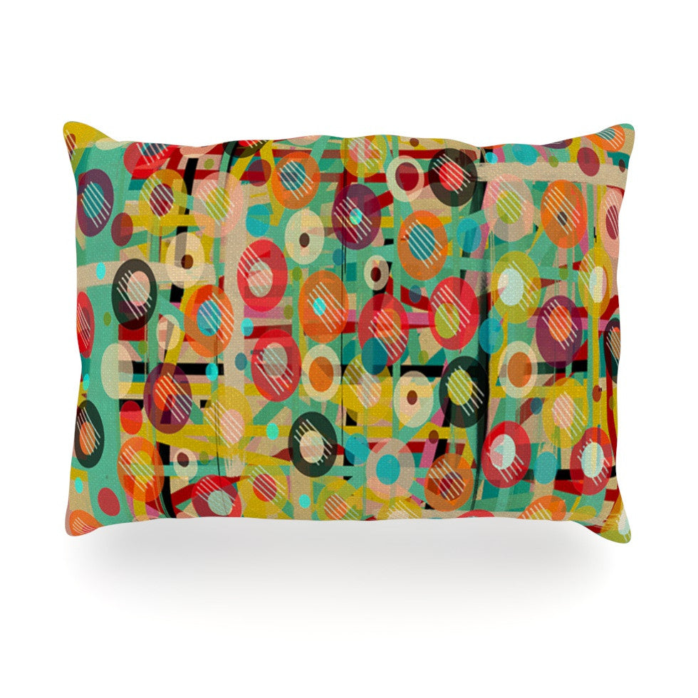 "Bri Buckley ""Gift Wrapped"" Crazy Abstract Oblong Pillow - KESS InHouse"