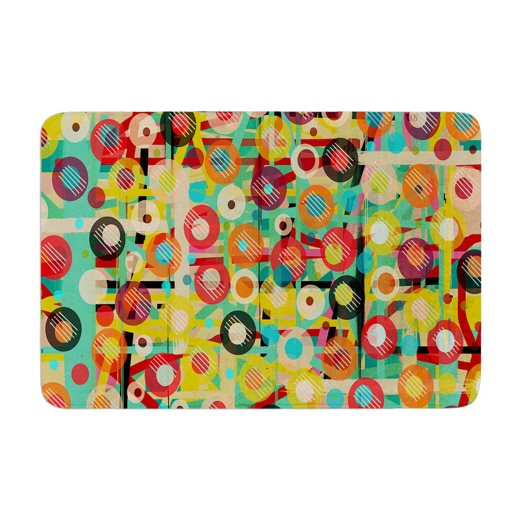 "Bri Buckley ""Gift Wrapped"" Crazy Abstract Memory Foam Bath Mat - KESS InHouse"