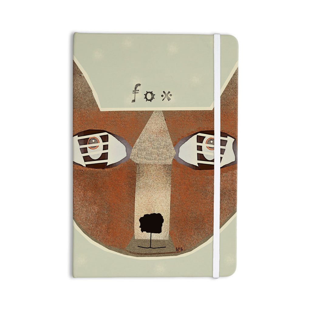 "Bri Buckley ""Fox Face"" Brown Tan Everything Notebook - KESS InHouse  - 1"