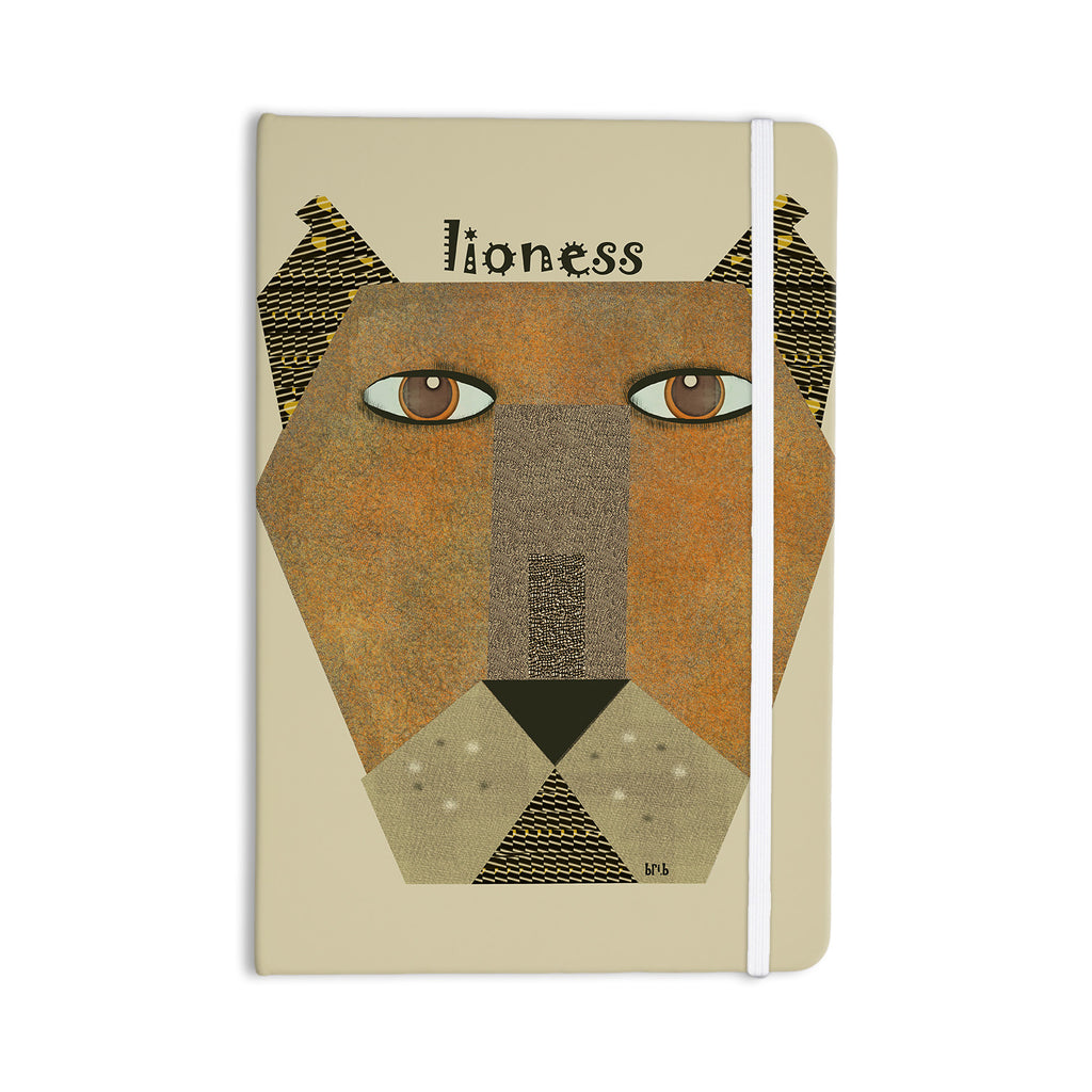 "Bri Buckley ""Lioness"" Tan Yellow Everything Notebook - KESS InHouse  - 1"