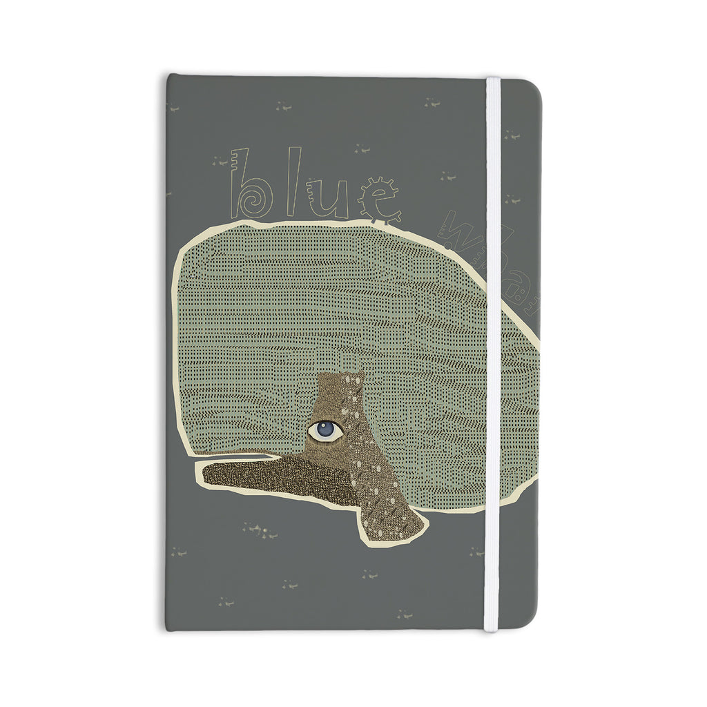 "Bri Buckley ""Blue Whale"" Blue Green Everything Notebook - KESS InHouse  - 1"