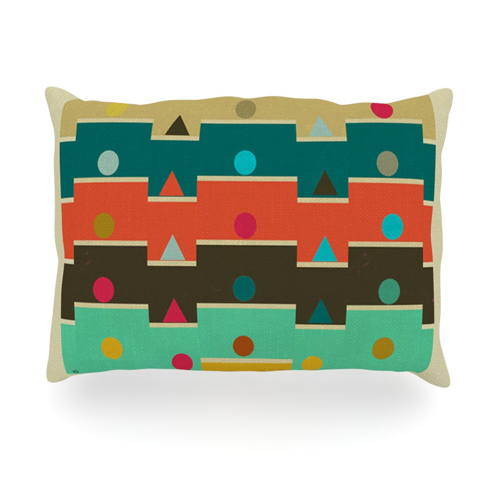 "Bri Buckley ""Modern Graphics"" Multicolor Geometry Oblong Pillow - KESS InHouse"