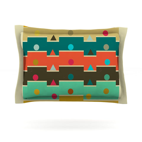 "Bri Buckley ""Modern Graphics"" Multicolor Geometry Pillow Sham - Outlet Item"