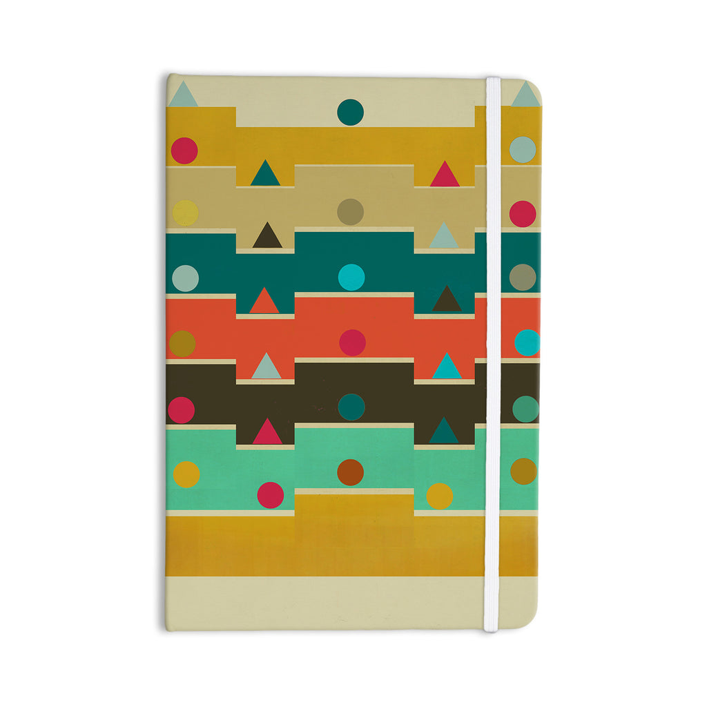 "Bri Buckley ""Modern Graphics"" Multicolor Geometry Everything Notebook - KESS InHouse"