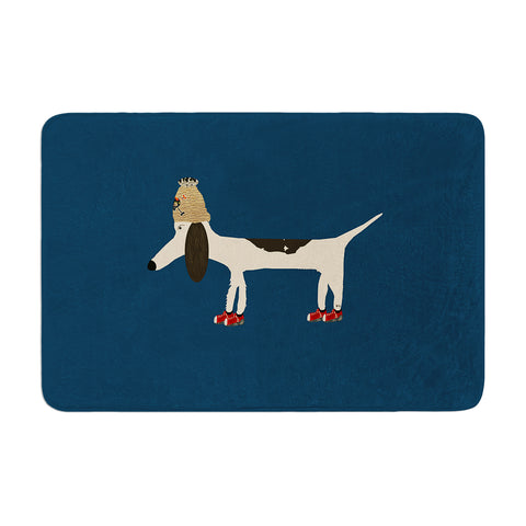 "Bri Buckley ""Chien"" Blue Memory Foam Bath Mat - Outlet Item"